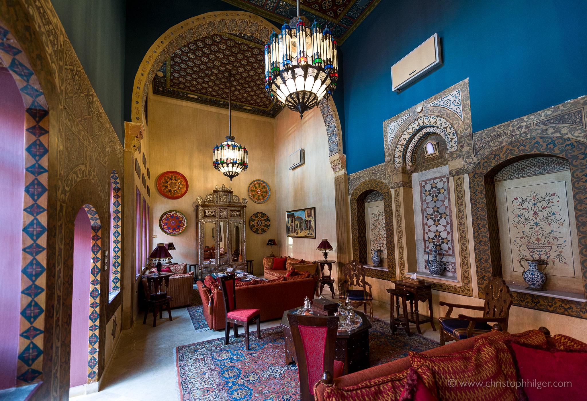 Hotel-Lounge in Damaskus, Syrien