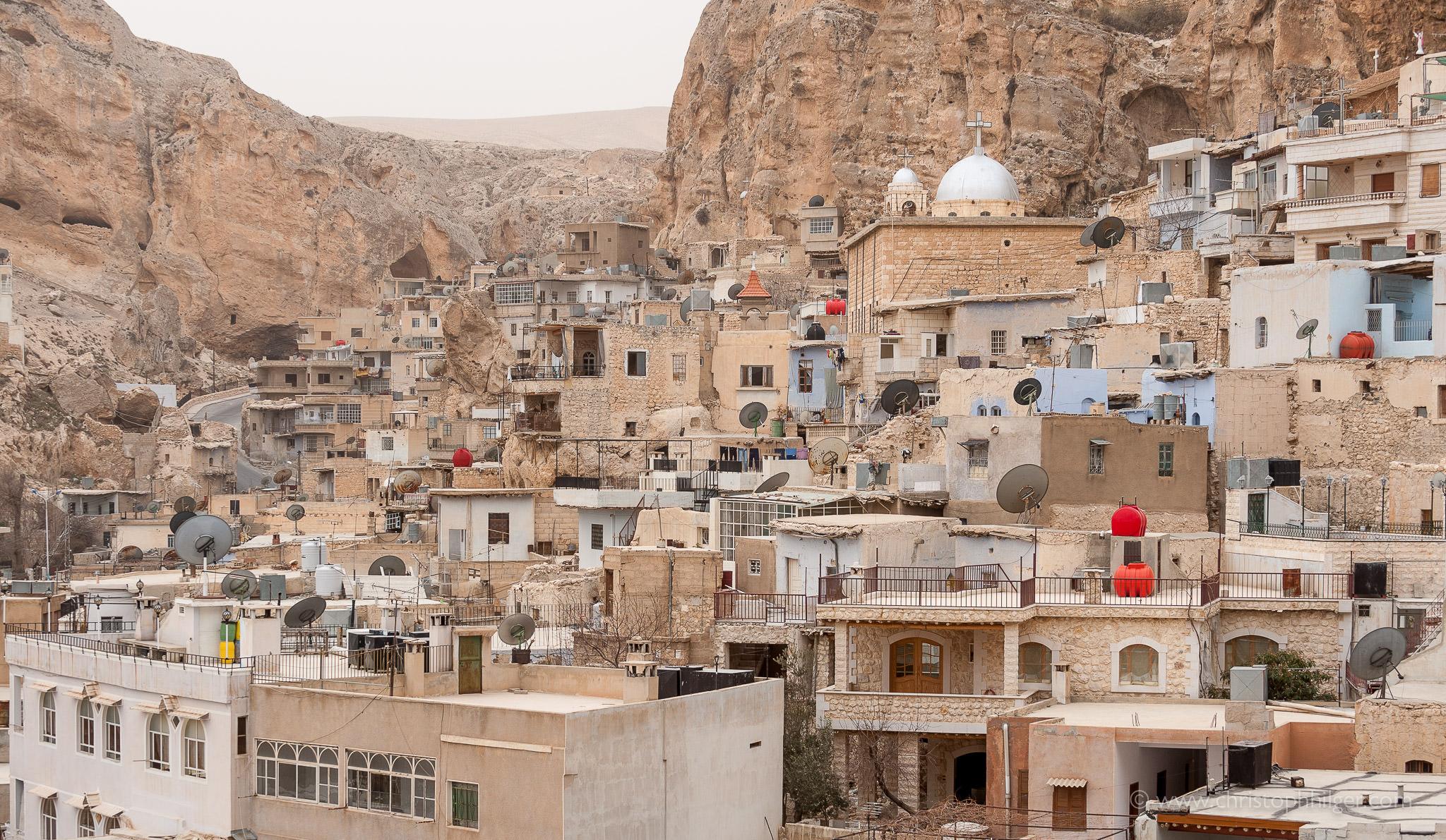Häuser von Maalula in Syrien